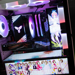 DIY Anime Light Board For PC Installed Custom Made Computer Case Decoration New