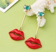eye Drop earrings women Fashion jewelry Bj New Beauty rare rhinestone red lip