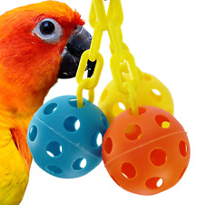1225 Triple Chain Ball Bird Toy parrot cage toys cages african grey macaw amazon