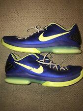Nike KD V 5 Elite Basketball 585386-400 Men's Shoes Size 13 Blue/Volt