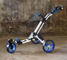 "Golftrolley Yorrx® Pro 7 HAMMA ""TOPSET""+ Golfballset, *BLAU* - 360° Vorderrad**"