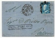 1859 ITALY SICILY COVER SA#7g 2gr PETRALIA SOPRANA PMK $9200.00