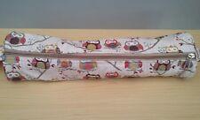 Hobby Gift Knitting Pin Soft Case Hoot Owls Design