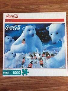 Puzzle Coca Cola Polar Bears Jigsaw Buffalo Games 1000 pc Coke COMPLETE