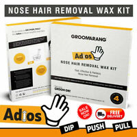 Nose Ear Hair Removal Wax Kit Nostril Painless Remove Easy Nasal Waxing for Man