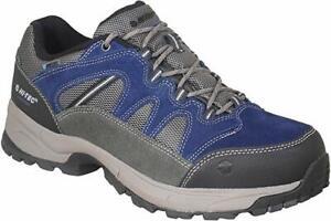 Hi-Tec Waterproof Bandera Lite Blue Leather Lace Walking Hiking Mens Trainer