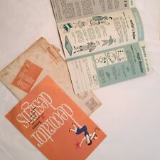 Vtg 1950's Sewing Booklet Bondex Advertising Pamphlet Envelope
