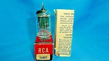 RCA NOS 12AU7 17mm Black Plates with Square Getter