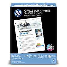 HP Office Ultra-White Paper 92 Bright 3-Hole 20lb 8-1/2 x 11 500/Ream 113102