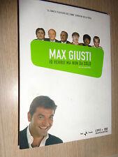 LIBRO + DVD MAX GIUSTI IO VERREI MA NON DA SOLO CON PAOLO MARICONDA