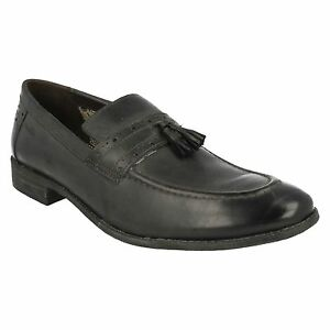SALE MENS CLARKS LEATHER CLASSIC SLIP ON LOAFER STYLE TASSEL SHOES CHART LIFT