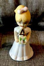 Enesco Vintage Growing Up Birthday Girls Age 4 Blonde figurine