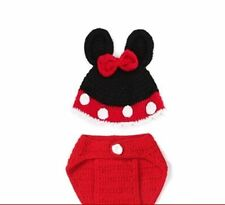 d5916a73007 New NEWBORN BABY (0-1m) CROCHET Minnie Mouse 2Pc Set Photography Prop Outfit