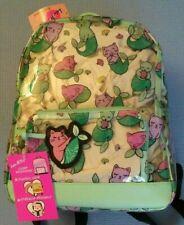 NWT Luv Betsey Johnson Kitsch MerKitty Clear Backpack Mermaid Cat school kitten