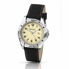 Stainless Steel Case Fabric/Canvas Strap Wristwatches