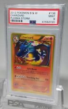 PSA 9 Mint Charizard Black White Plasma Storm 136/135 Holo Pokemon Secret Rare