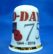 Birchcroft China Thimble - D-Day 75th Anniversary - Free Dome Box