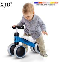 Kids Infant Toddler Baby Balance Bike Bicycle 4 Wheel No Pedal Walker Toys Rides