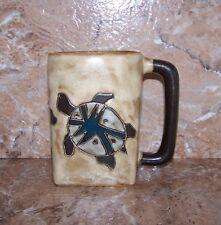 Turtle Mug Mara Stoneware Desert Turtle Pattern Square 12 Oz Mug Dark Handle