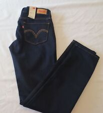 NWT LEVIS 524 SKINNY ULTRA LOW RISE SKINNY LEG JEANS JUNIORS SIZE 3M BLUE