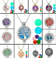 HOT Diffuser Locket Pendant Aromatherapy Essential Oil  Pendant Necklace