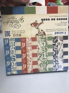 Graphic 45 Good Ol' Sport 6 x 6 Paper Pad Darling! Vintage Football N6