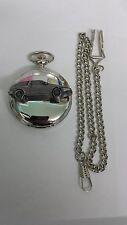Volvo 480 ref288 emblem on polished silver case pocket watch