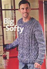 Big Softy - Man's Cabled Jumper Knitting Pattern by Rowan