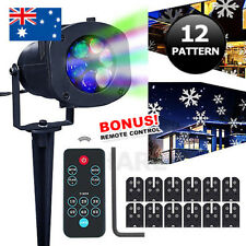 12 Patterns LED Laser Projector Light Christmas Xmas Party Outdoor Lamp AU