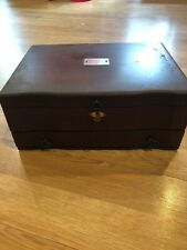 Vintage Wooden Jewelry Storage Chest Box With Wooden Drawer
