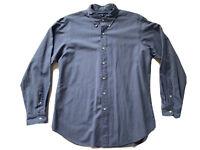 Men's Ralph Lauren Polo Long Sleeve Dress Shirt Classic Fit Blue Size Large EUC