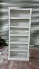 HAND MADE DEWSBURY FURNITURE 5 SHELVED BOOKCASE WHITE(ASSEMBLED)