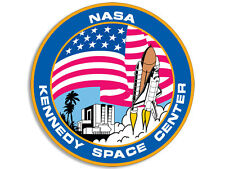 4x4 inch Round KENNEDY SPACE CENTER Sticker -astronomy science decal nasa fl fla