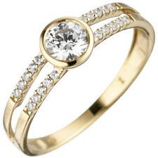 Ringe mit Edelsteinen echten Normale behandelte runde für die Verlobung