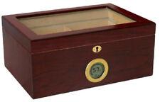 The Berkeley Digital Display Glass Top Cigar Humidor - Holds 100
