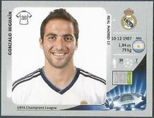 PANINI UEFA CHAMPIONS LEAGUE 2012-13- #244-REAL MADRID-GONZALO HIGUAIN