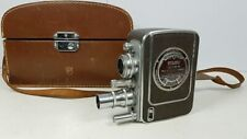Vintage Bell and Howell Filmo Auto-8 Movie Camera | Brown Leather Hard Case Film
