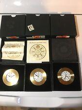 (3) Brass Clocks Chart Weights by Weems & Plath