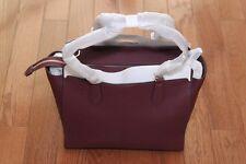 NWT Michael Kors $358 Dee Dee Large Leather Convertible Tote Handbag Plum