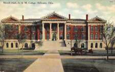 Stillwater Oklahoma A and M College Morrill Hall Antique Postcard J71103