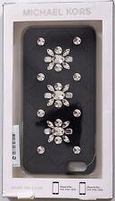iPhone 6 / 6s Case MICHAEL KORS $75 NIB  Black Rhinestone Embellished Snap On