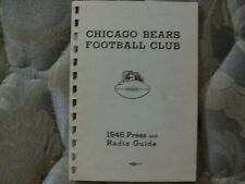 1946 CHICAGO BEARS MEDIA GUIDE Yearbook NFL CHAMPIONS! Press Book Program AD
