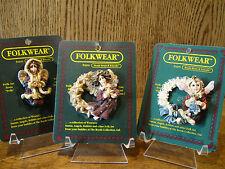 Boyds Folkwear CHRISTMAS Pins; MINERVA'S; BEATRICE'S WREATH; FROSTY KRISTABELL