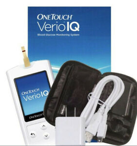 OneTouch Verio IQ Glucose Monitor - Meter, Charger, Case, Guide - NOT A FULL KIT