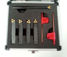 5pc Indexable TiN Carbide Lathe Tools 10mm set (Includes Boring Bar) Mini Lathe