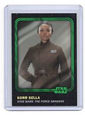 2016 Topps Star Wars Card Trader Green Parallel KORR SELLA sn#96/99 w/FREE PACK