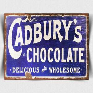 CADBURYS CHOCOLATE Vintage Retro Advert METAL SIGN WALL PLAQUE art print poster