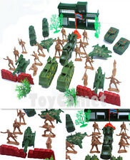 38 pcs Military Base Playset Toy Soldiers Army Men 5cm Figures & Accessories