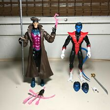 "Marvel Legends Gambit & Nightcrawler Figure LOT Hasbro 6"" X-MEN Caliban Series"