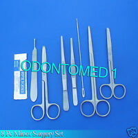 8 PCS STAINLESS STEEL MINOR MICRO SURGERY SET SURGICAL INSTRUMENTS FORCE DS-721